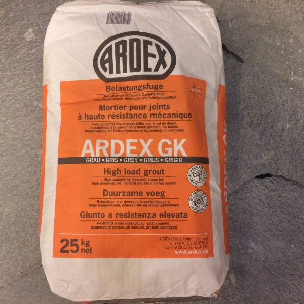 Zak met Ardex GK voeg