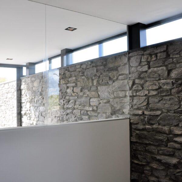 Binnenmuren Steenstrips - glas