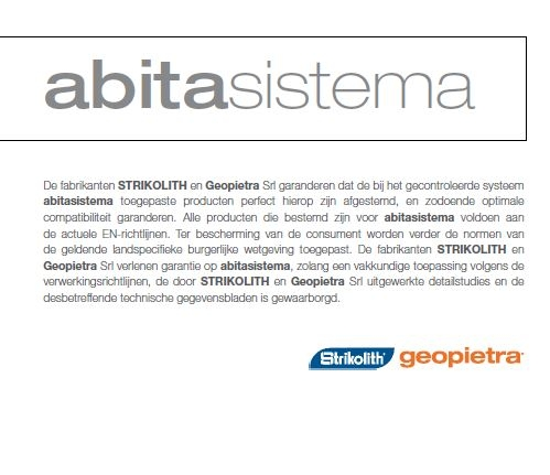 Abitasistema - garantie - Strikolith - Geopietra.