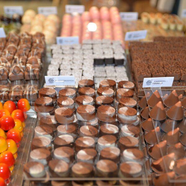 Heerlijke chocola, verkrijgbaar bij Chocolodge.