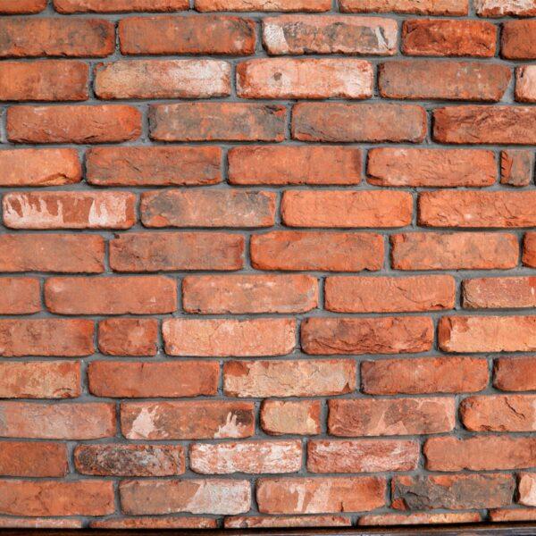 Muren met steenstrips van Baksteen.