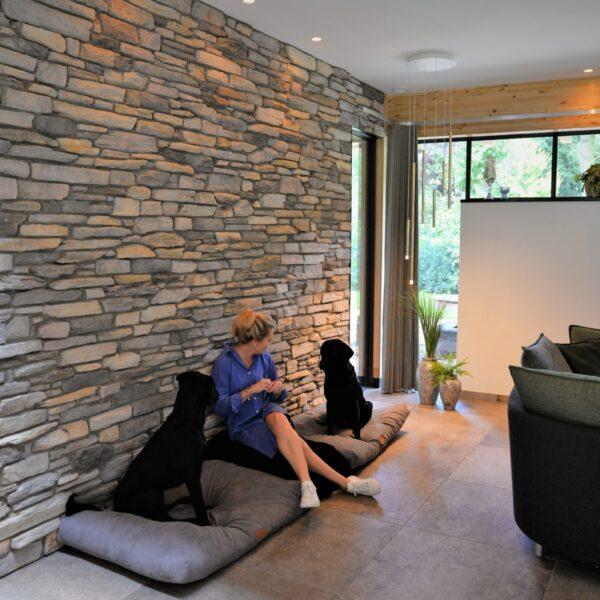 Natuurlijke muren interieur.