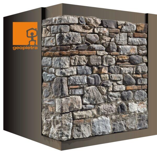 De look van oude Italiaanse muren - Contadino Steenstrips zijn in 2 kleuren leverbaar.