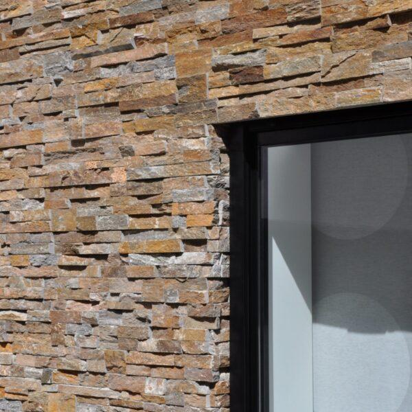 Brons Rustiek Natuursteenstrips - geschikt voor gevels, muren en wanden!