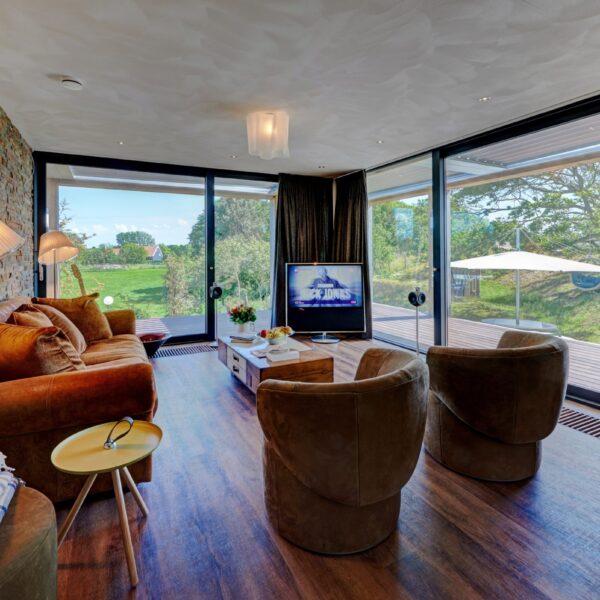 Natuursteenstrips Rustiek Kwartsiet. Wandbekleding living room.