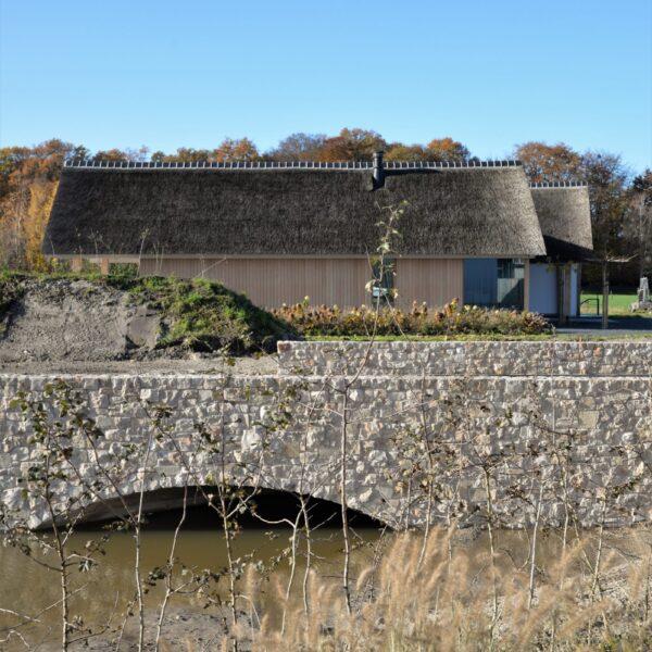 Steenstrip muur Rijssen.