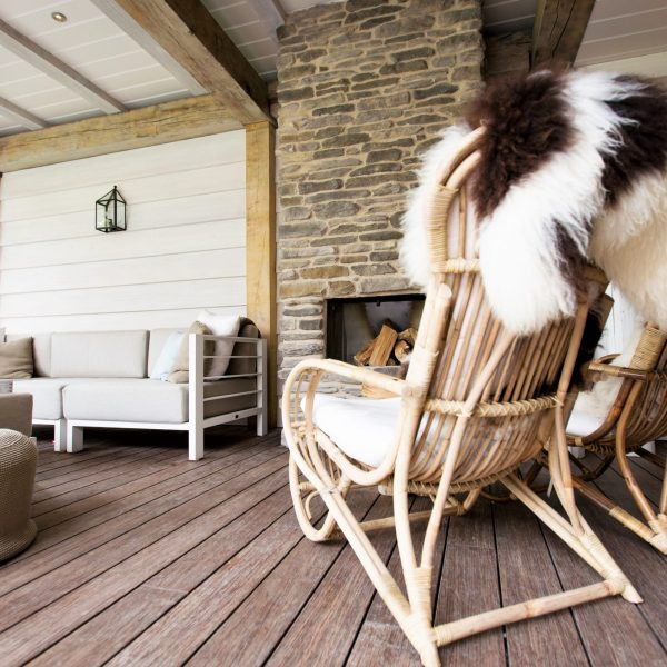 Geopietra Blumone openhaard - veranda.