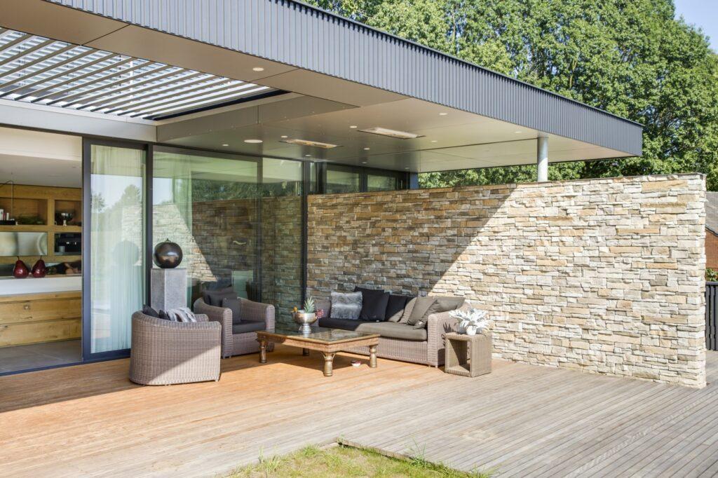 Steenstrips veranda - overdekt terras - Montepanel.