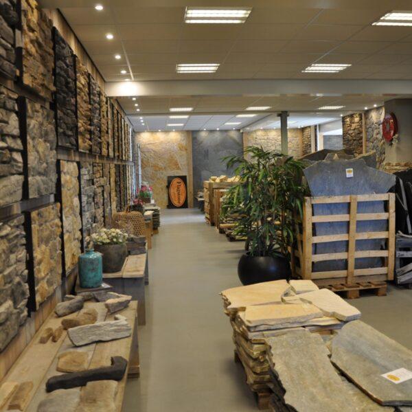 Showroom The Flagstone Company, Aalbosweg 16, VAASSEN (vlakbij Apeldoorn).