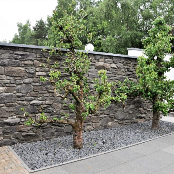 Tuinmuren antraciet steenstrips