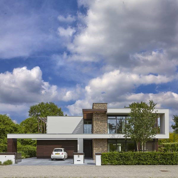Steenstrips kubistische woning Marco van Veldhuizen