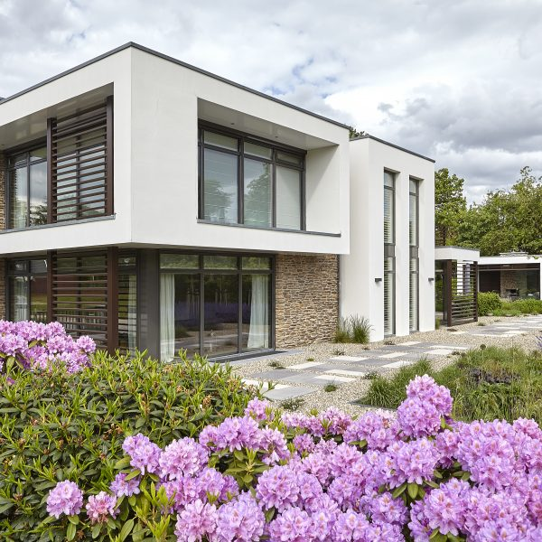 Steenstrips villa Veenendaal modern. Copyright: Fotografie Dré Wouters, The Art of Living magazine
