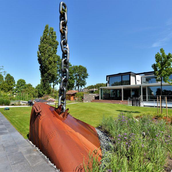 Tuin van woning, architect Pieter van Dam.
