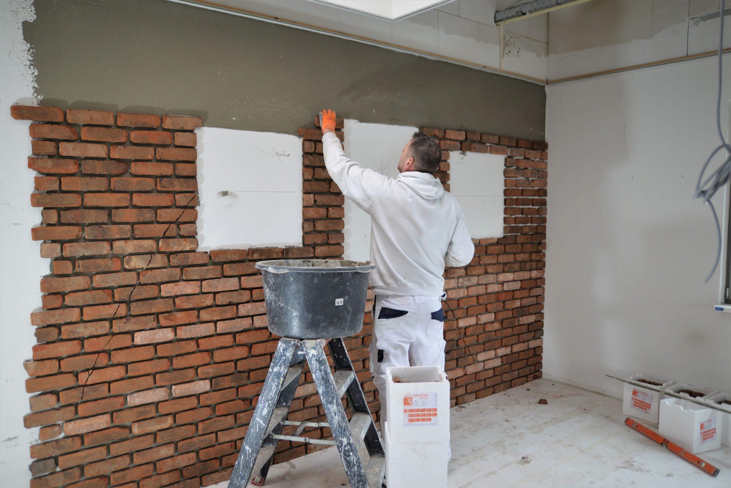 Bakstenen muur zetwerk