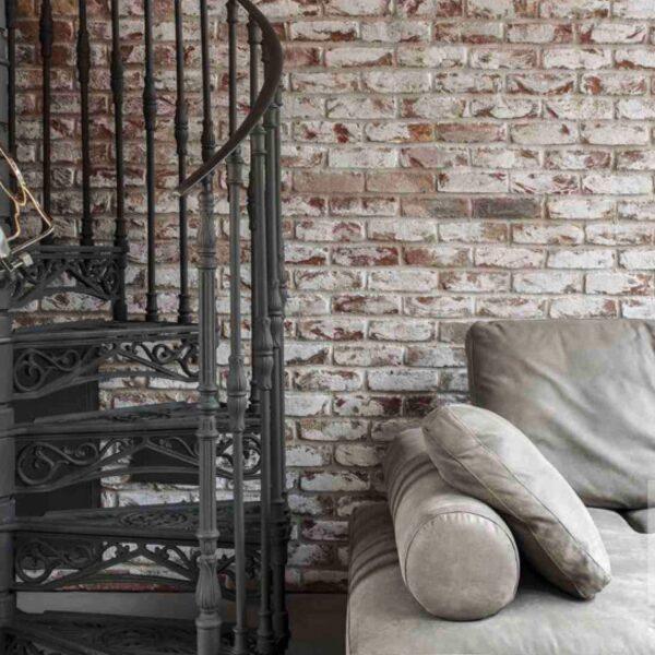Industriële luxe wandbekleding woonkamer