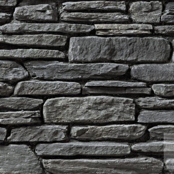 Langwerpige steenstrips donkergrijs