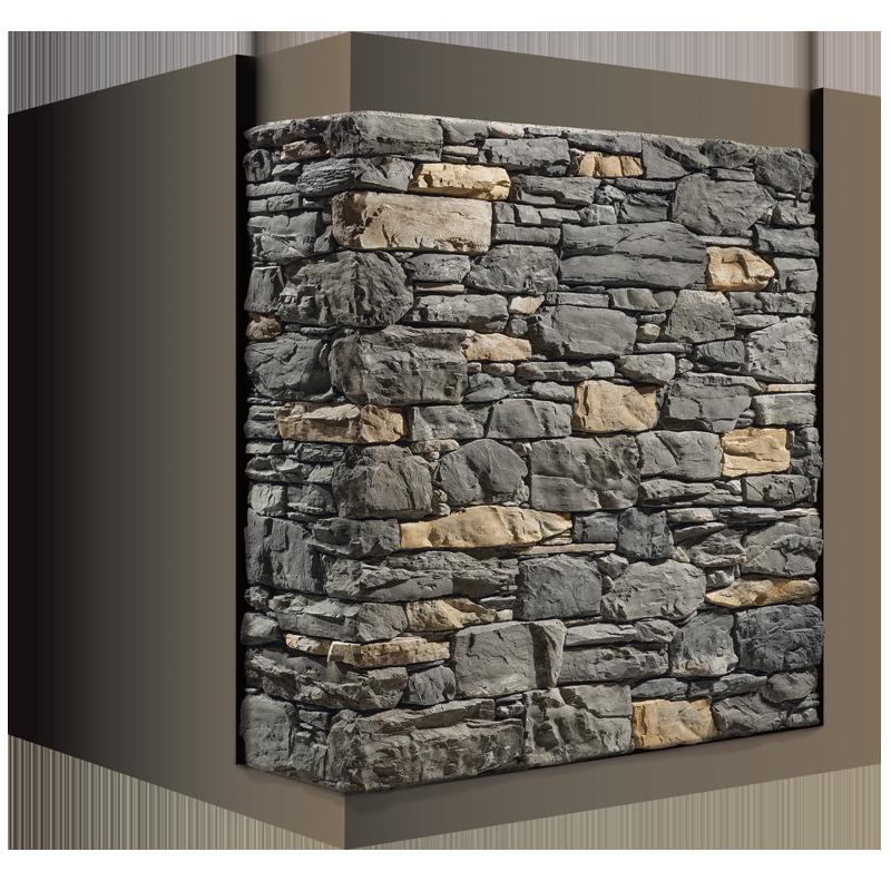 De Cascata Steenstrips koud geplaatst met de Geofit opvulstenen