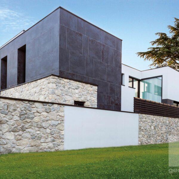 Moderne wandbekleding juist ook voor kubistische huizen