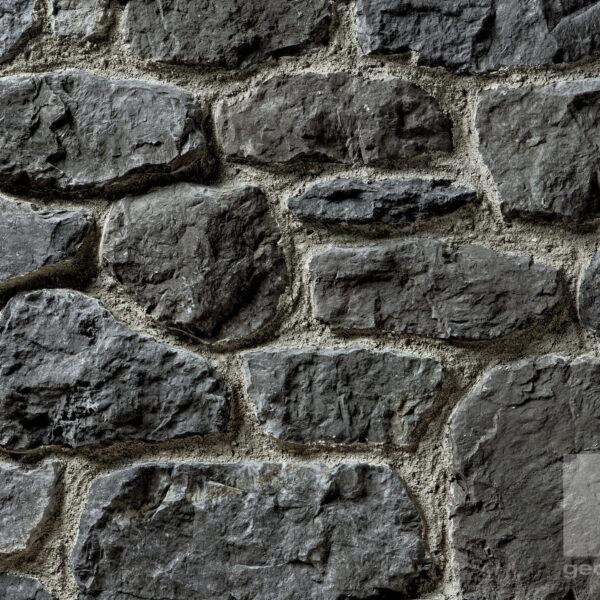 Grijze steenstrips in ronde vormen