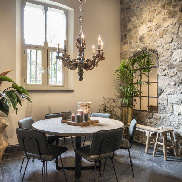 Botticino Steenstrips muur - bekleden van wanden binnen - ontwerp Hemels Wonen