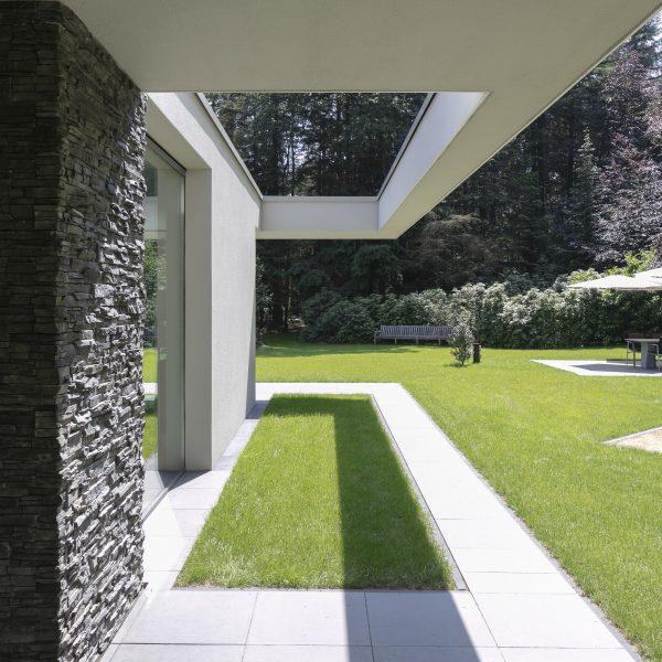 steenpanelen op Wandbekleding bij kubistische woningen