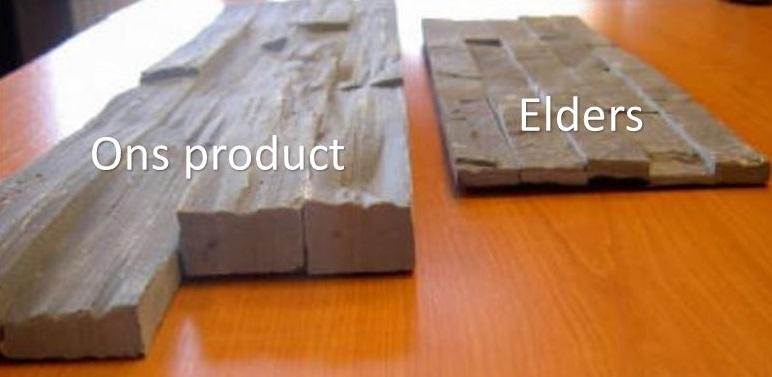 Onze producten vergeleken met andere producten