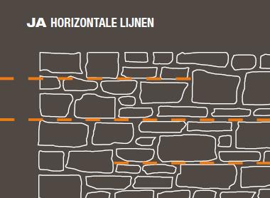 Horizontale lijnen Steenstrips