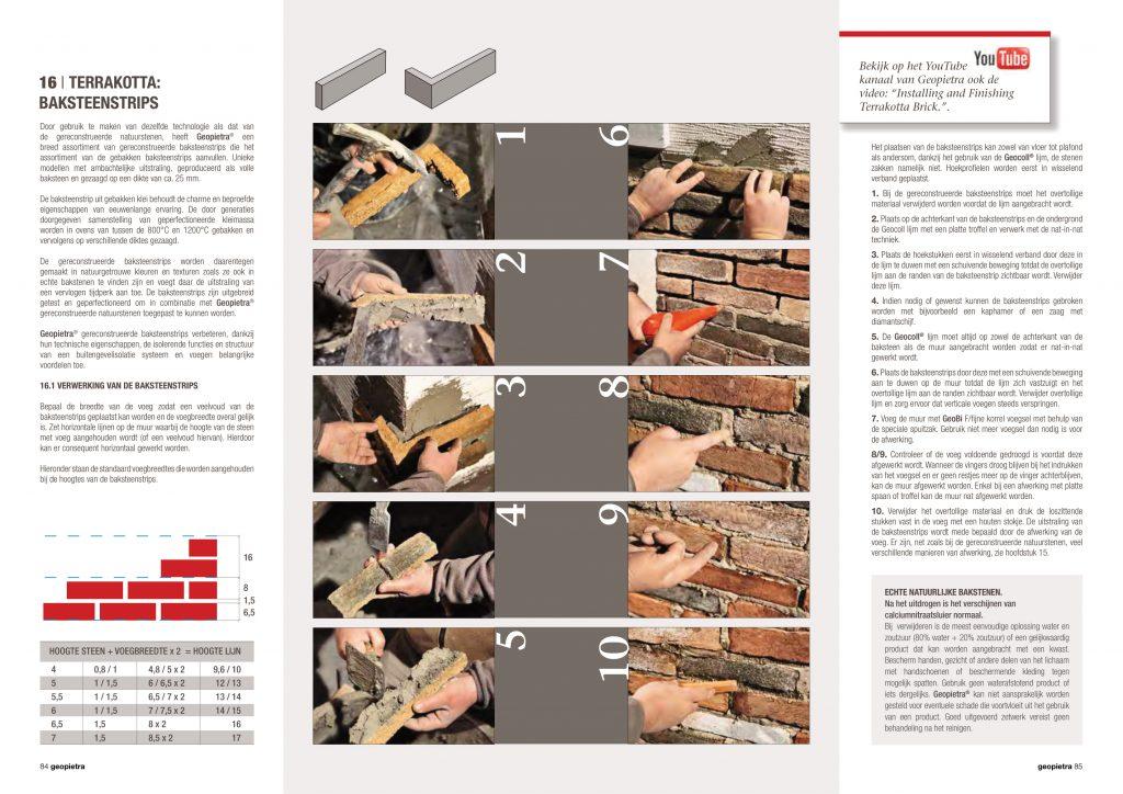 Handleiding baksteenstrips