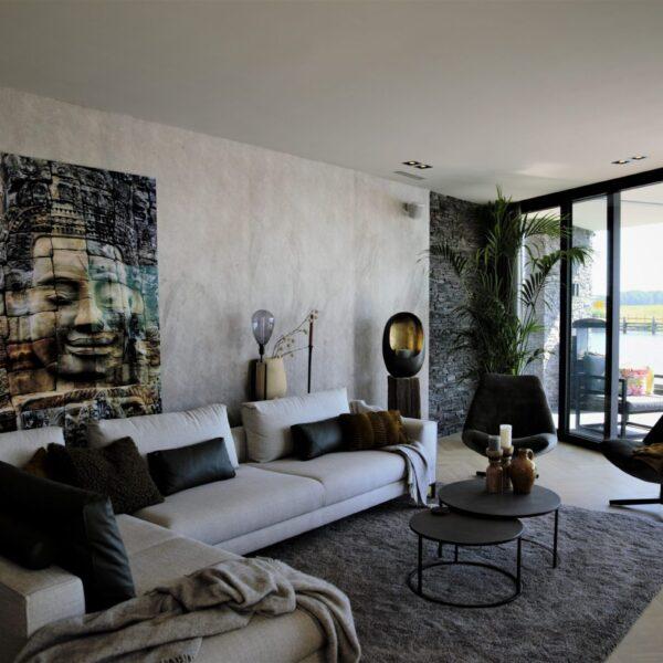 Steenstrips Scaglia toegepast in de living room