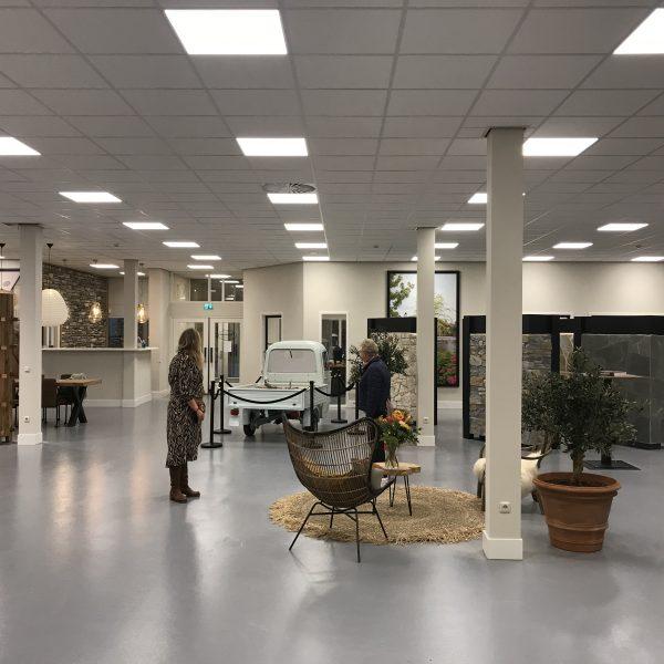 De Piaggio Ape in de nieuwe showroom