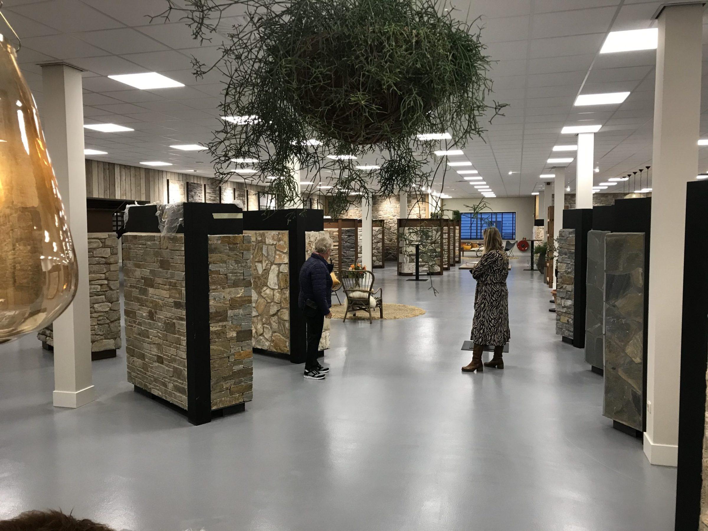 De nieuwe showroom van The Flagstone Company