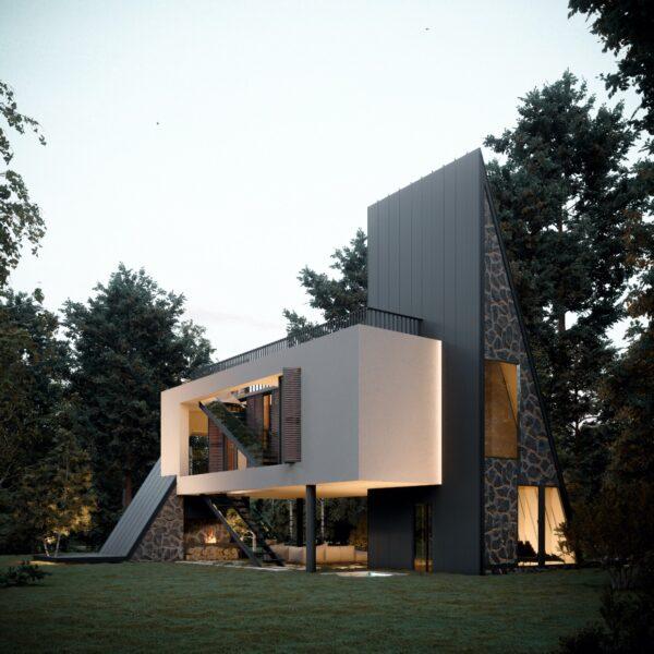 Architect - Aran Architecture, Reza Javadzadeh | Visualisatie - Mostafa Hajizade | https://amazingarchitecture.com/visualization/ararat-villa-in-maku-iran-designed-by-reza-javadzadeh