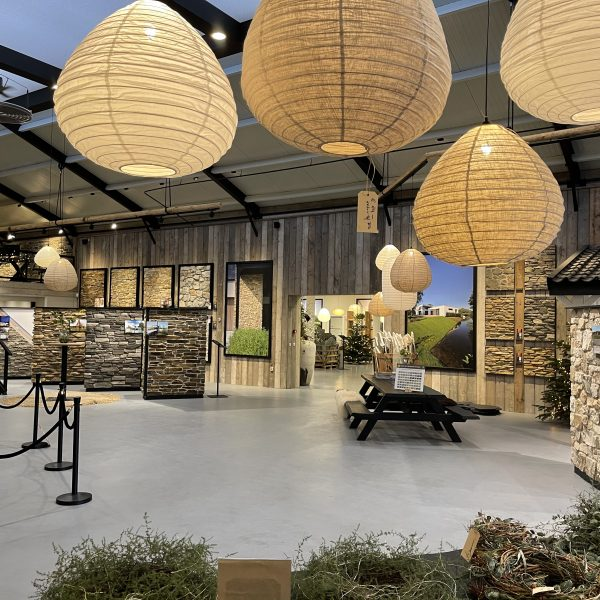 Wintertuin in de nieuwe showroom