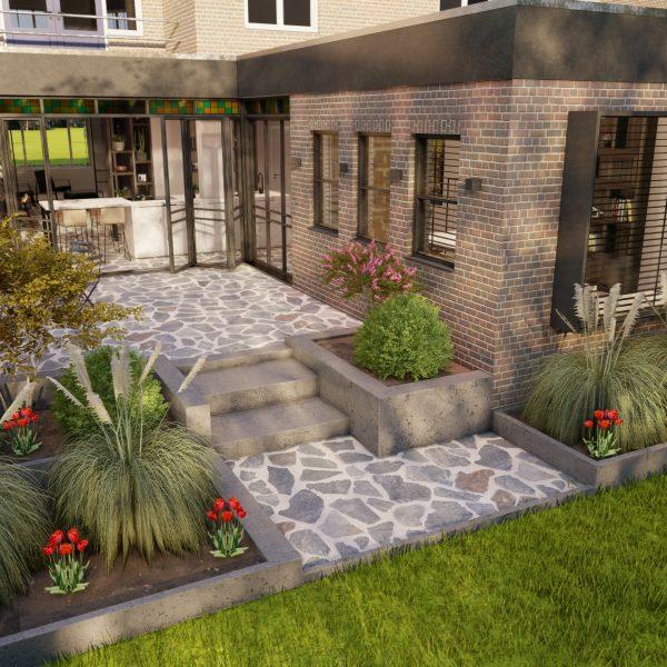 Flagstoneterras in 3D | Paul Ramakers